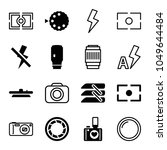 shutter icons. set of 16... | Shutterstock .eps vector #1049644484