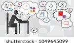vector illustration of working... | Shutterstock .eps vector #1049645099