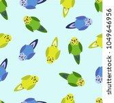 summer vector seamless pattern... | Shutterstock .eps vector #1049646956