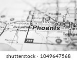 phoenix on the map usa | Shutterstock . vector #1049647568
