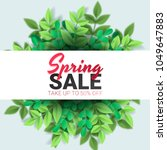 spring sale floral advertizing... | Shutterstock .eps vector #1049647883