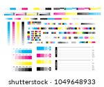 cmyk offset vector calibration... | Shutterstock .eps vector #1049648933