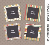 creative photo frames with art... | Shutterstock .eps vector #1049649380