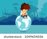 concept illustration of unhappy ... | Shutterstock .eps vector #1049654036