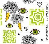 strange wallpaper with... | Shutterstock .eps vector #1049654048