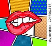 sweet sexy pop art pair of... | Shutterstock .eps vector #1049661989