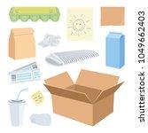 cardboard waste objects... | Shutterstock .eps vector #1049662403