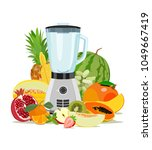 vector image of kitchen blender ...   Shutterstock .eps vector #1049667419