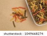 raw three color spiral twist... | Shutterstock . vector #1049668274