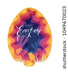 creative happy easter... | Shutterstock .eps vector #1049670023