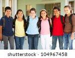 pre teen children at school   Shutterstock . vector #104967458