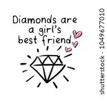 diamonds are a girl's best... | Shutterstock .eps vector #1049677010