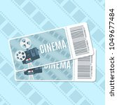 cinema tickets. elements for... | Shutterstock .eps vector #1049677484