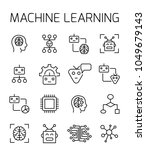 machine learning related vector ... | Shutterstock .eps vector #1049679143