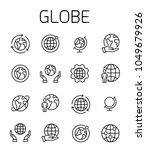 globe related vector icon set.... | Shutterstock .eps vector #1049679926