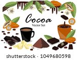 banner with super food cocoa...   Shutterstock .eps vector #1049680598