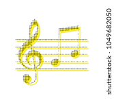 music violin clef sign. g clef... | Shutterstock .eps vector #1049682050