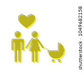 family symbol with pram and... | Shutterstock .eps vector #1049682158