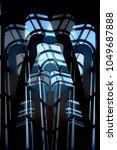 futuristic architecture.... | Shutterstock . vector #1049687888