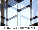 abstract modern architecture...   Shutterstock . vector #1049689733