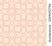 red and beige geometric print.... | Shutterstock .eps vector #1049692796
