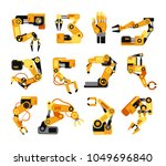 industrial robotic arms... | Shutterstock .eps vector #1049696840