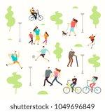 happy active people in various... | Shutterstock .eps vector #1049696849