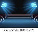 empty wrestling sport arena.... | Shutterstock .eps vector #1049696873