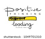 positive thinking concept  ... | Shutterstock .eps vector #1049701310