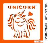 Stencil For Children. Unicorn....