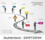 infographic template. vector... | Shutterstock .eps vector #1049710544