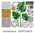 tropical and geometry... | Shutterstock .eps vector #1049716673