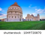 pisa  the leaning tower.... | Shutterstock . vector #1049720870
