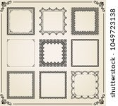 vintage set of elements.... | Shutterstock . vector #1049723138