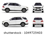 realistic suv car. front view ... | Shutterstock .eps vector #1049725403