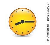 quarter past eight analog clock ... | Shutterstock .eps vector #1049726978