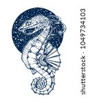 the body from sea horse  the... | Shutterstock .eps vector #1049734103