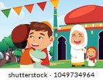 a vector illustration of... | Shutterstock .eps vector #1049734964