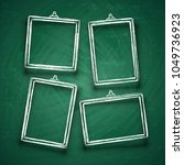 chalk cute photo frames.... | Shutterstock .eps vector #1049736923