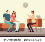patient on couch counseling... | Shutterstock .eps vector #1049737196