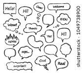 set of scribbled comic speech... | Shutterstock .eps vector #1049738900