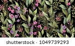 botanical print. watercolor...   Shutterstock . vector #1049739293