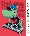 dj crocodile vector design | Shutterstock .eps vector #1049741150