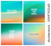 abstract vector beach blurred... | Shutterstock .eps vector #1049743160