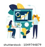 vector illustration a group of... | Shutterstock .eps vector #1049744879