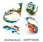 abstract colorful mosaic design ...