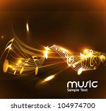 abstract music notes design for ... | Shutterstock .eps vector #104974700