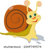 llustration of a smiling yellow ... | Shutterstock .eps vector #1049749574