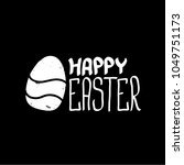 happy easter text lettering... | Shutterstock .eps vector #1049751173