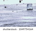 the disappearing glacier.... | Shutterstock . vector #1049754164